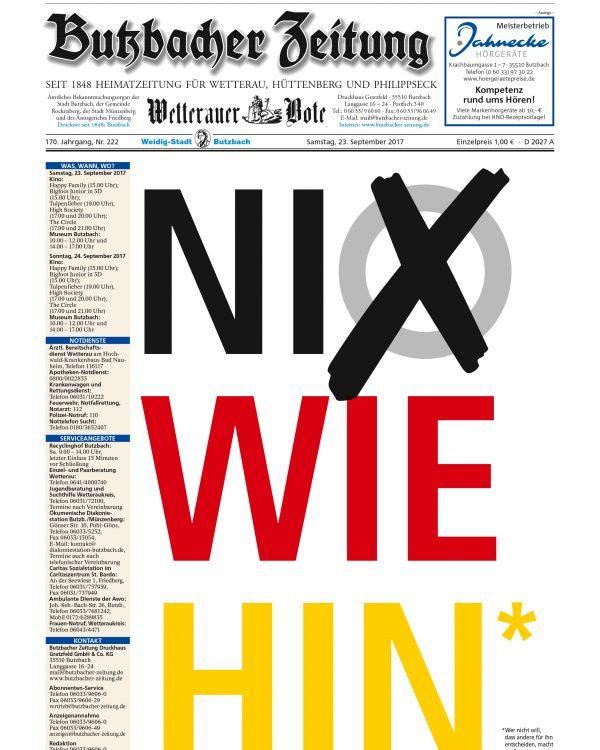 Leserbriefe Archive Butzbacher Zeitung
