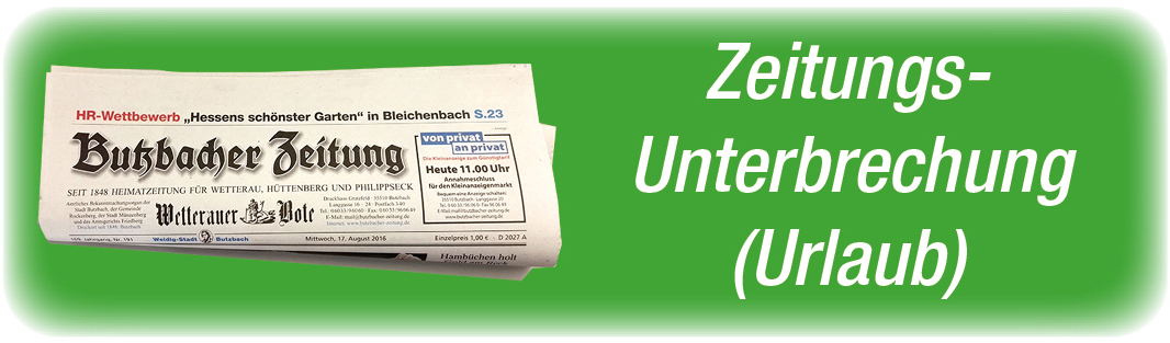 BZ Zeitungs-Unterbrechnung